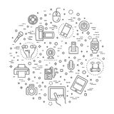 Set of smart devices and gadgets, computer equipment and electronics Stock Photo
