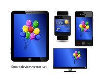 Set of smart devices Royalty Free Stock Image