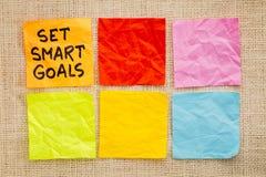 Set smart goals Stock Images