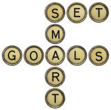 Set smart goals in  typewriter keys Stock Photo