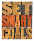 Set smart goals word abstract Royalty Free Stock Photography