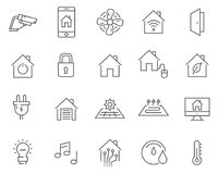 Set of smart home line vector icons. vector illustration