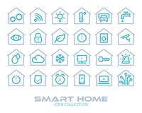 Smart Home Icon Collection Stock Images