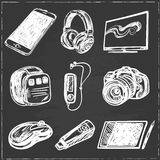 Set of smart media devices and personal gadgets Royalty Free Stock Images