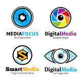Set of smart media logo, icons and design elements Stock Image