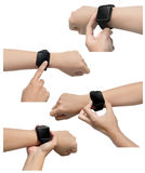 Set of smart watch images Stock Images