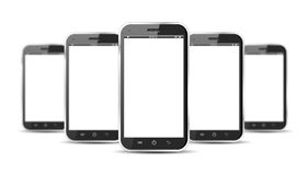 Set of smartphones Stock Images