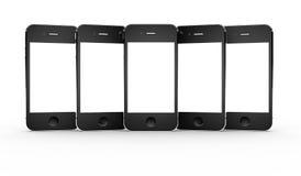Set of smartphones Royalty Free Stock Image