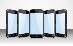 Set of Smartphones templates on white Royalty Free Stock Image
