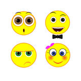 Set smile Royalty Free Stock Images