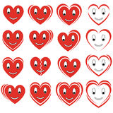Set of  smile hearts Royalty Free Stock Photo