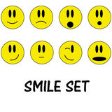 Smile icon set Stock Images