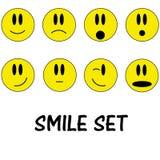 Smile icon set. Set of 8 smile icons Stock Images