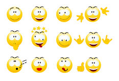 Set of smiles. Stock Images