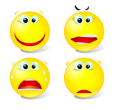 Set of smiles. Smiling,crazy,crying and sad smiles Royalty Free Stock Image