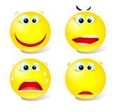 Set of smiles  Royalty Free Stock Image
