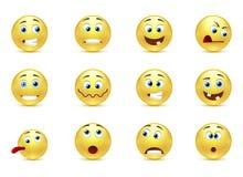 Set of smiles crazy Stock Image