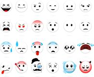 Set of smiles royalty free illustration