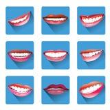Set of smiles Stock Photos