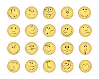 Set of smiles. Vector illustration in eps8 format Stock Image