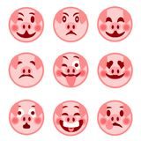 A set of smiley emoticons. Merry pig. illustration stock illustration