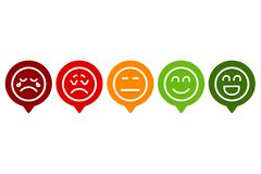 Set of Smiley Emotion Ranking stock illustration