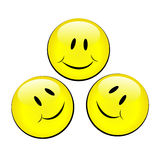 Set of smiley emotional faces. Vector set of smiley emotional faces Royalty Free Stock Image