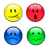 Set of smiley emotional faces. Vector set of smiley emotional faces Royalty Free Stock Photos