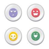 set smiley för emblem stock illustrationer