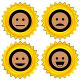 set smiley för utmärkelsesymbol stock illustrationer