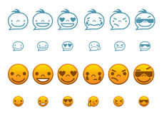Set of Smiley Faces in vector Stock Image