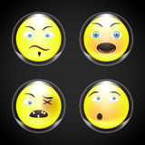 Set - smiley faces royalty free illustration
