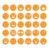Set of smiley icons Royalty Free Stock Photo