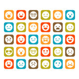 Set of smiley icons Stock Photos