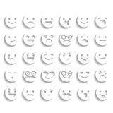 Set of smiley icons Stock Photography