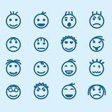 Set of smiley icons with different emotions Stock Photo