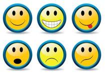 set smileys Στοκ φωτογραφία με δικαίωμα ελεύθερης χρήσης