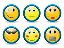Set of smileys 2 Royalty Free Stock Image