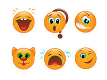 Set of smileys Royalty Free Stock Images
