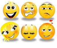 Set of smileys Stock Photo