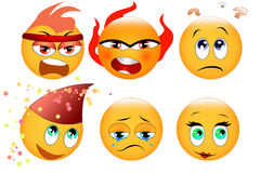 Set of smileys Royalty Free Stock Photo