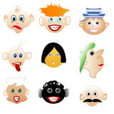 Set smileys Royalty Free Stock Photo
