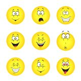 Set of smileys Royalty Free Stock Photos