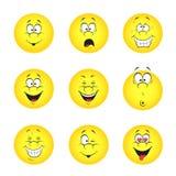 Set of smileys Royalty Free Stock Photos