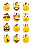 Set of smileys Stock Images