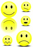 Set of smileys. With different expressions on their face Royalty Free Stock Image