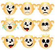 Set of smileys Stock Photography