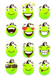 Set of smileys Royalty Free Stock Image