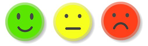 Set of 3 smileys Royalty Free Stock Photography