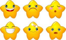 Set of smileys stars Royalty Free Stock Photos